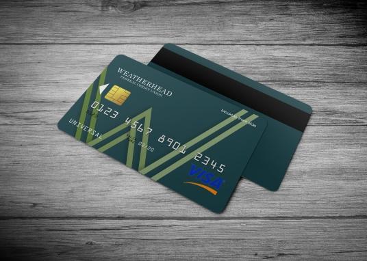 Weatherhead Bank Credit/Debit Card Concept