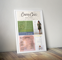 Curvy Chic Boutique Annual Report Poster