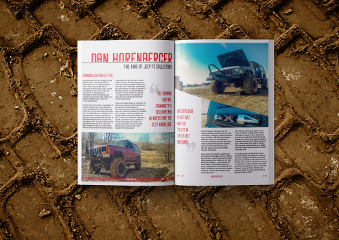 Jeep Magazine Layout Concept