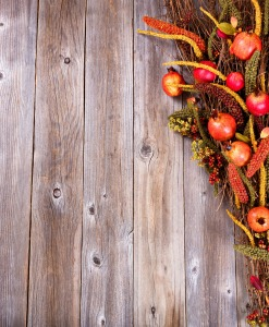autumn-decoration-on-wood