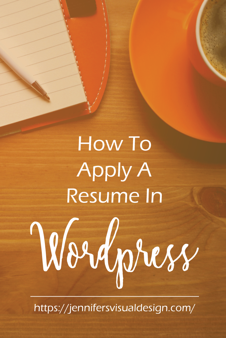 how-to-apply-a-resume-in-wordpress-pinterest